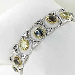 Tacori Tacori 18k925 Bracelet Midnight Sun Enchanted Pool Quartz Hematite 18k Yg 925