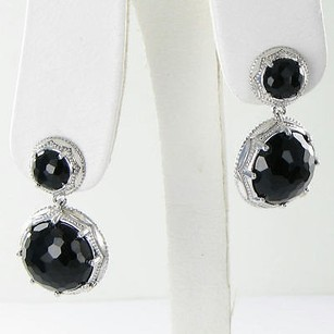Tacori Tacori 18k925 Earrings City Lights Round Double Drops Black Onyx 925
