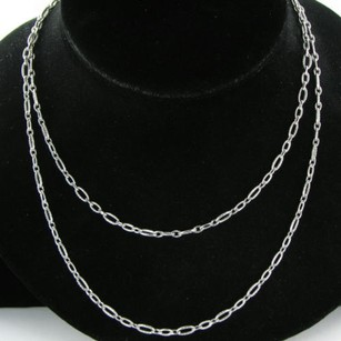 Tacori Tacori 18k925 Thick Chain Necklace 38 Oval Link Sterling Silver