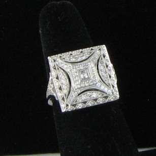 Tacori Tacori Crescent Square 18k White Gold Diamond 0.90cts Ring