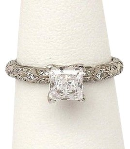 Tacori Tacori Platinum .35ctw Diamond Fancy Carved Solitaire Waccent Mounting Ring
