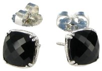 Tacori Tacori 18k925 Classic Rock Black Onyx Earrings Sterling Silver