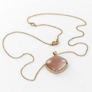 Tacori Tacori Necklace Moon Rose 0.35ct Diamond Peach Moonstone 18k Rose Gold