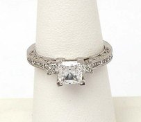 Tacori Tacori Platinum .64ct Princess Cut Diamond Solitaire Waccent Ring Mounting