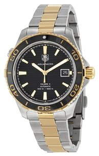 TAG Heuer Tag Heuer Aquaracer Automatic Black Dial Two-tone Mens Watch WAK2122BB0835