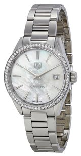 TAG Heuer TAG HEUER Carrera Mother of Pearl Dial Diamond Stainless Steel Ladies Watch WAR1315BA0778