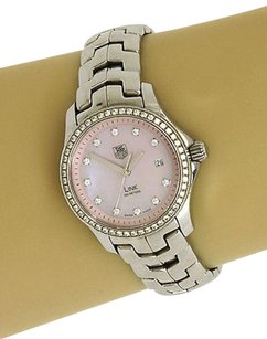 TAG Heuer Tag Heuer Link Stainless Pink Mop Diamond Dial Bezel Ladies Watch-wjf131