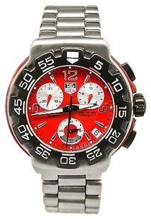 TAG Heuer Tag Heuer Formula 1 Cac1112 Stainless Steel Date Red Dial Quartz Mens Watch