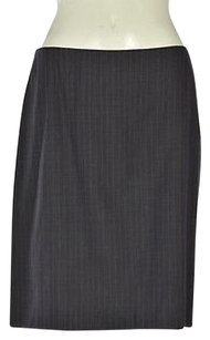 Tahari Womens Navy Striped A Skirt Multi-Color