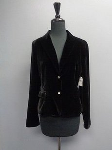 Tahari Button Up W Faux Rayon Blend Sma3937 Black Jacket