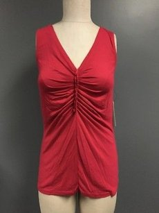 Tahari Sleeveless V Top Fuchsia