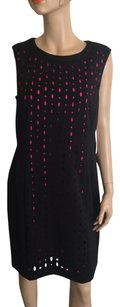 Tahari short dress Black Pink on Tradesy