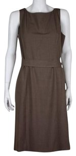 Tahari Tahari Arthur Levine Womens Brown Suit Blazer Dress Sleeveless