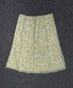 Talbots Skirt Beige Green And Blue