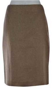 Talbots Womens Brown Speckled Skirt Multi-Color