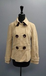 Talbots Double Tan And Brown Jacket