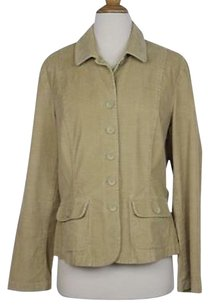 Talbots Womens Basic Cotton Corduroy Blazer Casual Beige Jacket