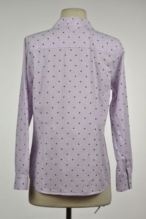 570a865c83 Talbots Womens Petite Purple Polka Dot Button Down 6p Long Sleeve Wtw Shirt  outlet