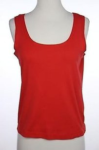 Talbots Womens Solid Knit Top Red