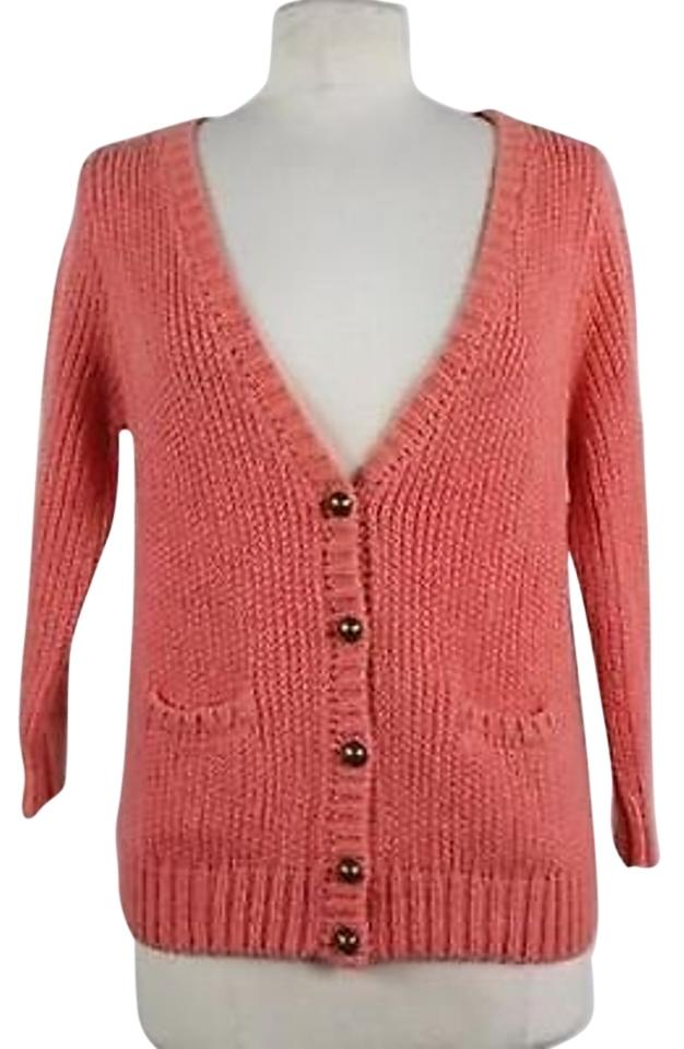Talbots Womens Pink Sweater Cardigan Long Sleeve Knit Top