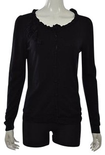 Talbots Womens Cardigan Long Sleeve Silk Shirt Sweater