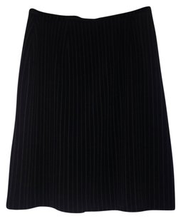 Talbots Skirt Black with off white striping