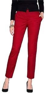Talbots Straight Pants Red