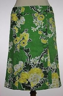 Talbots Womens Floral 100 Straight Skirt Multi-Color