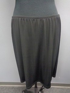 Talbots Polyester Blend Casual Elastic Waist Knit Sma5450 Skirt Black