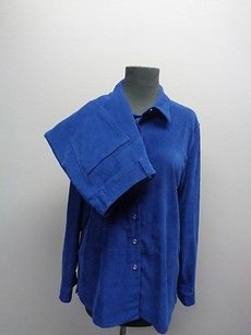 Talbots Talbots Royal Blue Button Front Pant Suit Sizes And Polyester Blend Sma8040