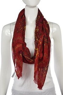 Talbots Talbots Womens Red Paisley Scarf One Casual