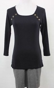 Talbots Womens Top Black