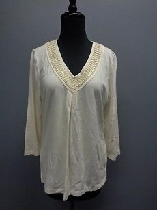 Talbots Stretchy Cotton Top Cream