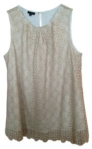 Talbots Top gold lace