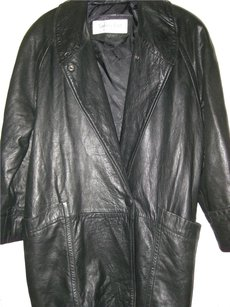 tannery east black Leather Jacket