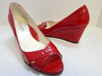 Taryn Rose Italy Patent Red Platforms