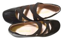 Taryn Rose Patent Leather Wedge BROWN Wedges