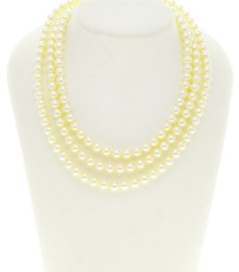 TASAKI 18K Yellow Gold Pearl Necklace