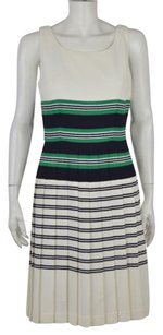 Taylor Womens Striped Knee Length Sleeveless Casual Sheath Dress