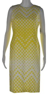 Taylor Womens White Printed Dress