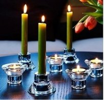 Tea Light And Taper Candle Stick Candlestick Glass