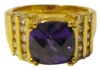 Technibond Technibond Amethyst Ring with CZ Accents size 7.5