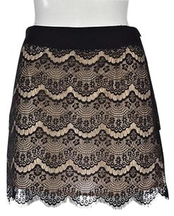 Ted Baker Womens Black Floral Lace A Line 1 Above Knee Casual Skirt Multi-Color