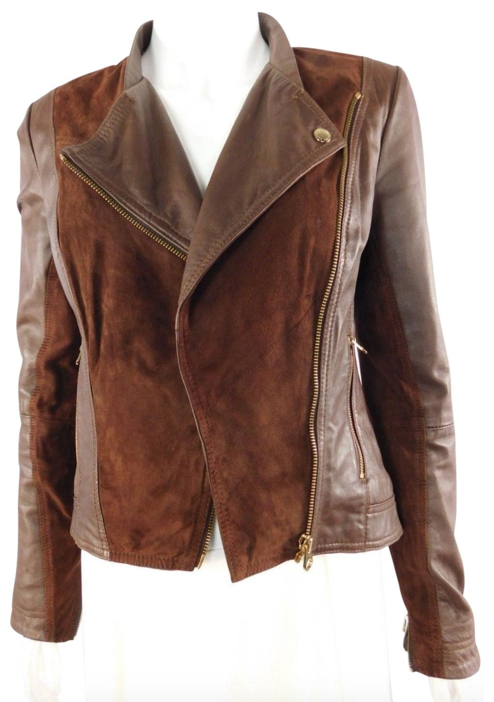 Ted baker coat with leather panel