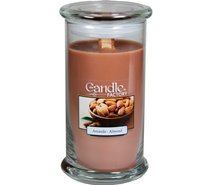 The Candle Factory Large 15-ounce Jar Crackling Candle Almond
