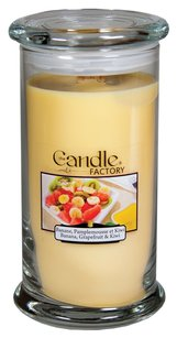The Candle Factory The Candle Factory Large 15-Ounce Jar Crackling Candle, Banana Grapefruit and Kiwi