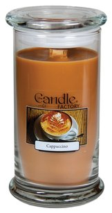 The Candle Factory The Candle Factory Large 15-Ounce Jar Crackling Candle, Cappuccino