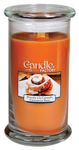 The Candle Factory The Candle Factory Large 15-ounce Jar Crackling Candle, Cinnamon Buns