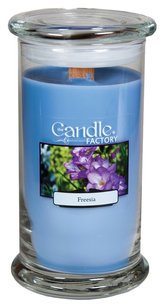 The Candle Factory The Candle Factory Large 15-ounce Jar Crackling Candle, Freesia