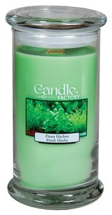 The Candle Factory The Candle Factory Large 15-ounce Jar Crackling Candle, Fresh Herbs